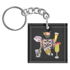 Gambler Key Chain Acrylic Key Chains