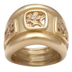 Kieselstein Cord Diamond Flower Ring