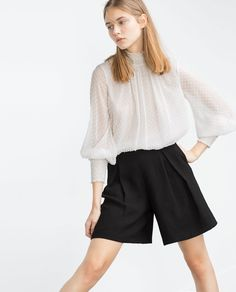 Image 4 of FLOWING SHORTS from Zara