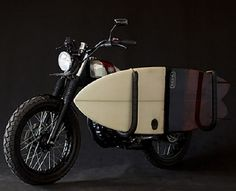 Deus Ex Machina with removable surfboard rack. I am going to ride this down the coast of Namibia.