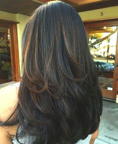 Hair Highlights Long Layered Hairstyles 57 Ideas Long Hair Styles With Layers Hair Hairstyles highlights Ideas Layered Long Summer Haircuts, Long Layered Haircuts, Straight Hairstyles, Layered Hairstyles, Fall Hairstyles, Long Face Hairstyles, Haircut Long Hair, Brunette Haircut, Haircuts For Long Hair With Layers