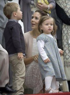 Crown Princess Mary of Denmark with Prince Christian and Princess Isabella - 2009