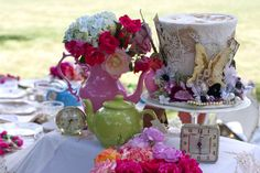 Mad Hatter tea party.