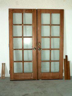 The Pros and Cons of Using Reclaimed Materials french door Indian Window Design, Wooden Window Design, Wooden Windows, Wooden Doors, Tiny House Blog, Living Room Tv Unit Designs, Door Detail, Door Ideas, Grills