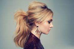 Her hair looks very retro ~ Very Bridget Bardot.