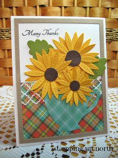 stamping up north with laurie: Simon Says Stitched Daisy for The Card Concept