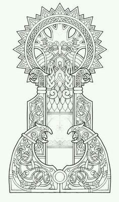 Odin ¤ Wolves ¤ Ravens design ¤