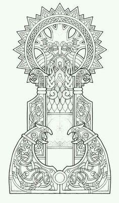 Odin ¤ Wolves ¤ Ravens design ¤