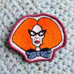 Myrtle Snow Hand Embroidered Sew On Patch by RAD by radboutiqueuk