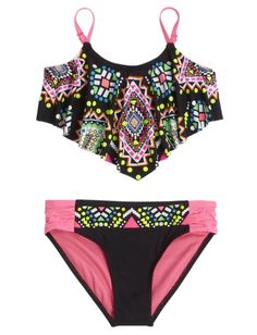 Embellished Flounce Bikini Swimsuit | Girls Swimsuits Swim | Shop Justice >>> WANT
