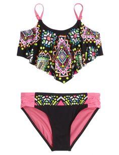 Embellished Flounce Bikini Swimsuit | Girls Swimsuits Swim | Shop Justice >>> WANT