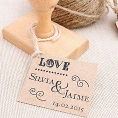 Sello para bodas personalizado: LOVE
