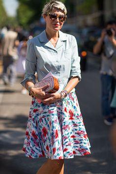 Street Style Milan Fashion Week Spring 2014 - Milan Fashion Week Spring Street Style