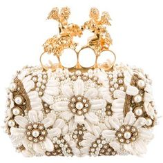 Pre-owned Alexander McQueen Embellished Knuckle Duster Box Clutch