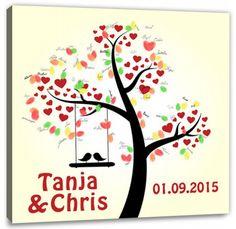 Fingerabdruck Baum - Wedding-Tree Vogelpaar