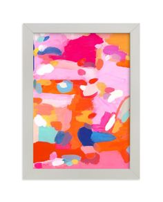 """""""Orange Rush"""" - Limited Edition Art Print by Lisa McLean in beautiful frame options and a variety of sizes. Wall Art Decor, Wall Art Prints, Fine Art Prints, Domino Art, Abstract Art, Abstract Paintings, Geometric Painting, Pink Abstract, Canvas Paintings"""