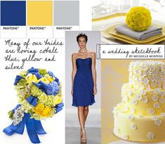 Cobalt Blue & Yellow