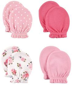 These soft, comfortable little Luvable Friends No Scratch Mittens by Baby Vision will help prevent your newborn from scratching themselves. Each pack includes 4 pairs of ultra-soft cotton mittens with gentle elastic wristbands to hold them in place. My Baby Girl, Baby Girl Newborn, Baby Vision, Baby Mittens, Fingerless Mittens, Baby Girl Accessories, Baby Essentials, Baby Dress, Baby Shower Gifts