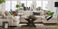 Townsend Sofa Collection | Pottery Barn; like the configuration