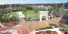 We have a first look at the renovations for the ballpark at the University of San Diego: the home of the Toreros will be renamed Fowler Park upon the completion of the work. University Of San Diego, College Life, Pride, Mansions, Park, House Styles, School, Manor Houses, Villas