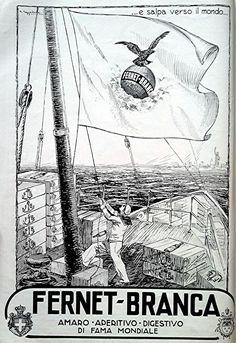 Digestivo FERNET BRANCA - Foglio pubblicitario (Illustratore G. Cappadonia) 1927