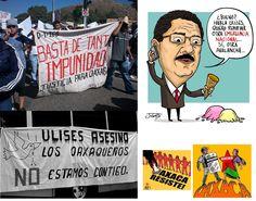 Inicia conflicto en Oaxaca el 22 de mayo de 2006. Maestros protestan apoyados por la Asamblea Popular de los Pueblos Oaxaqueños (APPO) en contra del represivo gobernador Ulises Ruiz.