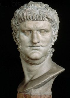 Ancient Rome. Bust of Nero, 54 A.D.