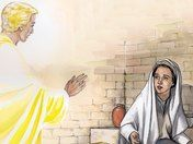 An angel visits Mary. (Luke 1:26-38)