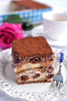 Tiramisu z czarnego lasu Tiramisu, Food Cakes, Cake Recipes, Cheesecake, Birthday Cake, Sweets, Baking, Ethnic Recipes, Cook
