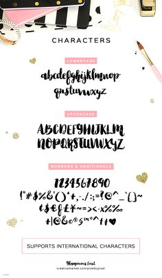Glamorous Brush Font by pixelbypixel on @creativemarket
