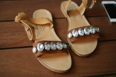 Over the weekend, my friend Elanah and I got together to recreate some crystal sandals we'd been seeing all over the blogosphere. In particular, there were two pairs of crystal sandals that we reaa...
