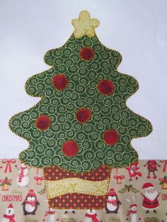 Pano de Prato Árvore de Natal Cactus