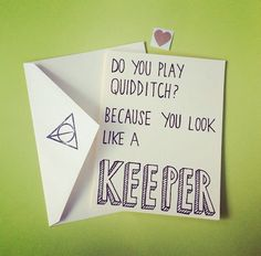 You Look Like A Keeper Harry Potter Quidditch Inspired Handmade Greeting Card - $3.50