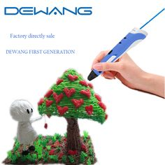 DEWANG New Generation Magic 3D Print Pen Kids Gift Drawing Pen PLA Filament 10 Colors 100 Meters 3D Printer Pen For Children