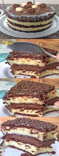 Baking Recipes, Cake Recipes, Dessert Recipes, Portuguese Sweet Bread, Food Wishes, Good Food, Yummy Food, How Sweet Eats, Chocolate Recipes