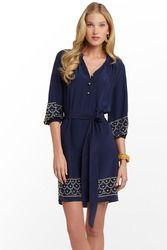 Perla Dress in True Navy $278