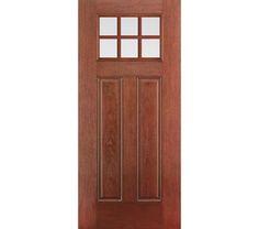 Therma tru classic craft rustic collection fiberglass door for Therma tru fiber classic mahogany price