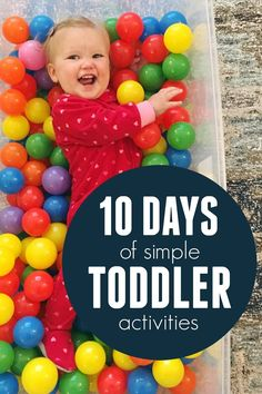 Join us for a 10 day challenge! Do one simple activity with your toddler each day!