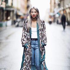 Kimono Outfit, Kimono Fashion, Kimono Top, Kimono Style, Long Cardigan, Street Style, My Style, Coat, Womens Fashion