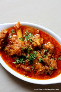 Mutton gravy is a recipe which we all crave to eat with rice. Mutton gravy recipe can be made in various ways but here I have not used onions and tomatoes..