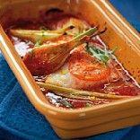 Kabeljauw in de oven met tomaat, venkel, sinaasappel en dragon - souschef Social Food Platform !