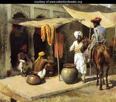 Outside An Indian Dye House - Edwin Lord Weeks - www.edwinlordweeks.org
