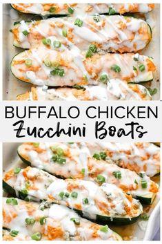 Chicken Zucchini Boats, Zucchini Boat Recipes, Recipe Zucchini, Stuffed Zucchini Recipes, Healthy Zucchini, Yellow Squash Recipes, Eggplant Recipes, Chicken Appetizers, Summer Fresh