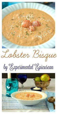 Lobster Bisque Recipe, Seafood Bisque, Crab Bisque, Seafood Stew, Seafood Dishes, Lobster Bisque Soup, Lobster Chowder, Shrimp Bisque, Lobster Appetizers