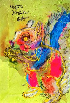 Naoto Kitamura Art Images, Cool Pictures, Colours, Illustration, Deco, Abstract, Drawings, Squirrels, Poster