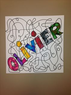 Line colors name - Art Lesson Plans Art Sub Plans, Art Lesson Plans, Classe D'art, 6th Grade Art, Grade 2, Fourth Grade, Art Folder, Ecole Art, School Art Projects