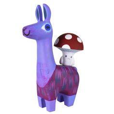 llama and toadstool resin set | switcheroo