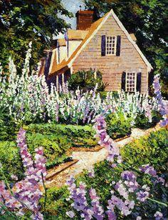 Hollyhock House Painting  - David Llyod  Glover