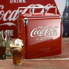 Classic Coca-Cola Picnic Cooler. I saw someone with 1 of these on the 4th.