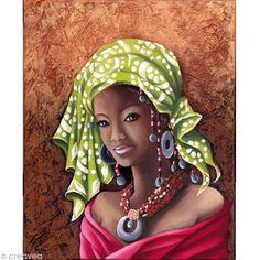 Compra nuestros productos a precios mini Imagen 3D Mujer - Africana - 40 x 50 cm - Entrega rápida, gratuita a partir de 89 € !